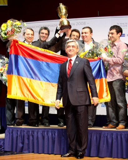 armenia lifting the cup