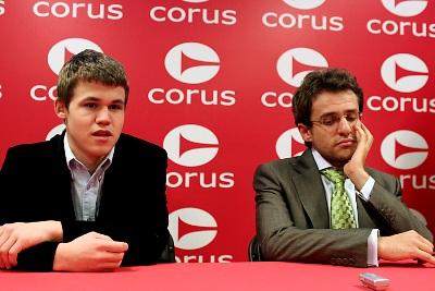 Carlsen Aronian press