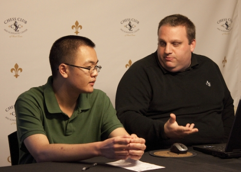 Gregory Young with GM Ben Finegold