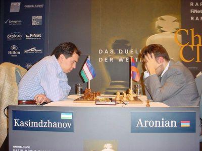 Mainz Kasimdzhanov Aronian day 1