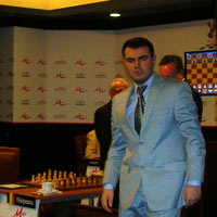 Mamedyarov walking around