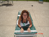 Martha Fierro near the pool 4