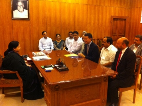 Meeting with Mme J. Jayalalithaa