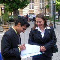 Sasikiran Smiling and Signing
