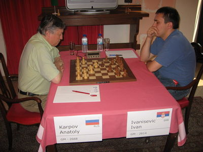 Valjevo day 2 Karpov Ivanisevic