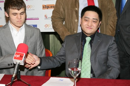 Wang Carlsen Leon