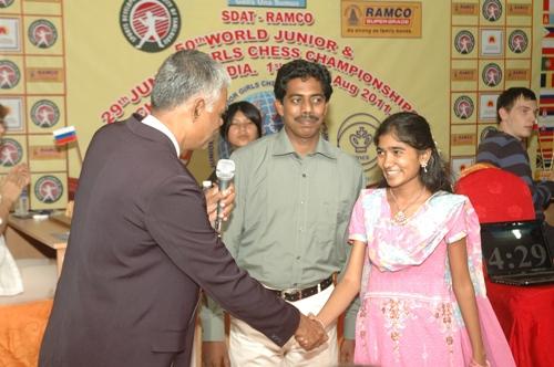Woman FIDE Master J Saranya