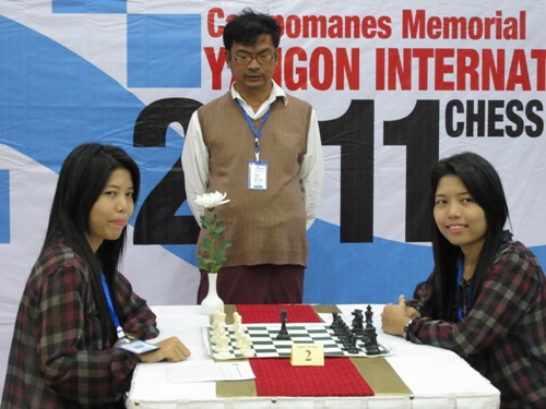 Yangon Twins with GM Zaw Win Lay