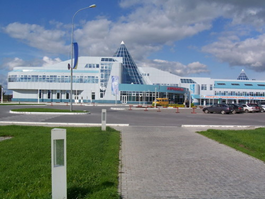 The Khanty Mansiysk airport where the participants of the World Cup 2011 are arriving