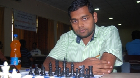 Deepan Chakkaravarthy moved to sole second place by defeating P. Shyam Nikhil