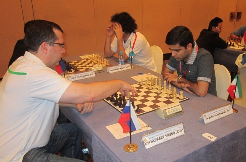 GM Alexey Dreev in action