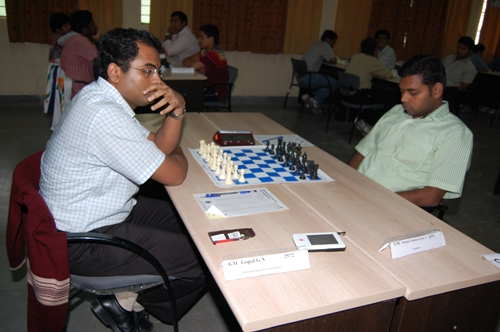 GM Gopal drew with GM Deepan Chakravarthy on the second board