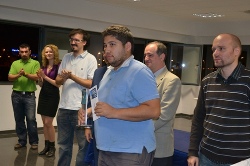 GM Ibragim Khamrakulov with the 2nd prize, 2000 euros