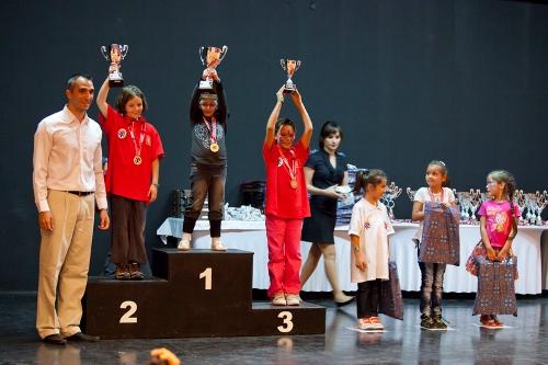 Girls U-7 1.  Melek Ismayil 2. Doga Su Arda 3. Sila Caglar