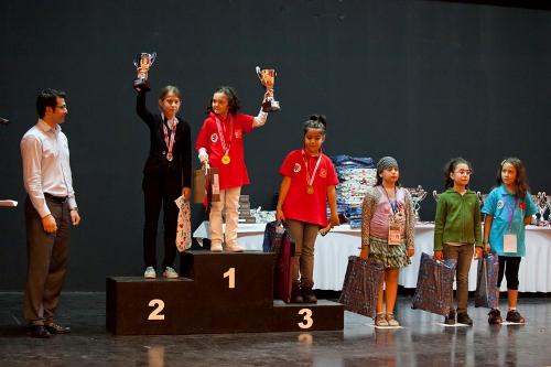 Girls U-9 1. Sude Hereklioglu  2. Elena Badzgaradze 3.Duru Okuyaz