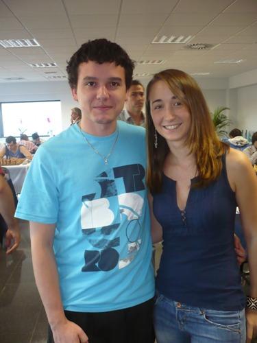 IM David Larino with Spanish woman champion, Lucia Pascual
