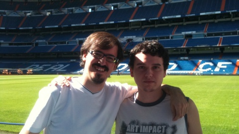 IM David Martinez and IM David Larino at the Tour Bernabeu