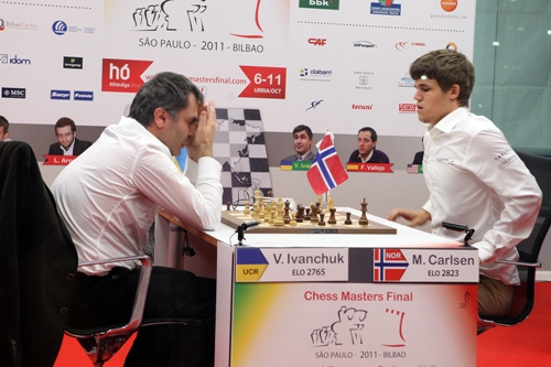 Ivanchuk in difficult position against Carlsen