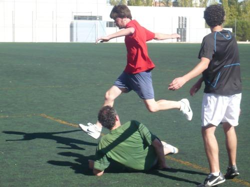 Jose Manuel Garcia can easily handle acrobatic movements, too