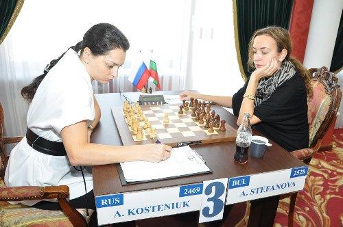 Alexandra Kosteniuk - Antoaneta Stefanova