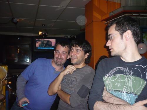 Players enjoying the karaoke bar