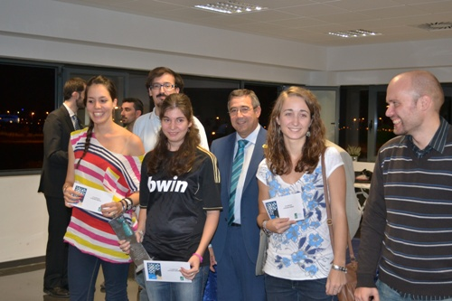The winners of the women's prizes - Maria Rodrigo, Raquel Pablos and Lucia Pascual