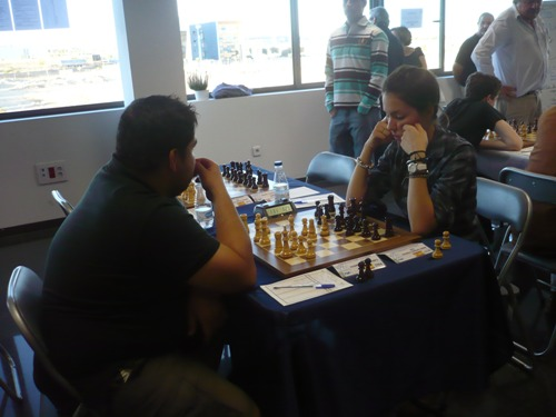 WFM Maria Rodrigo played against GM Ibragim Khamrakulov