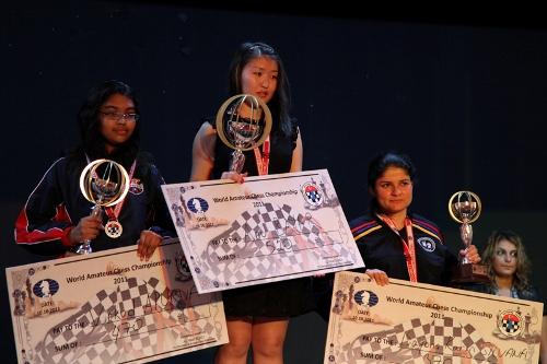 Winners in women category: 2nd place Apurva Virkud – 1st place Anu Bayar - 3rd place Bayona Karin Silvana