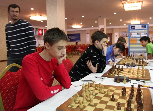 Russian team played against Kazakhstan team in the eighth round and managed to win the match with 3-1 score