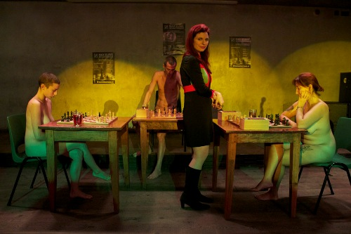 Naked chess performance with Jen Shahade