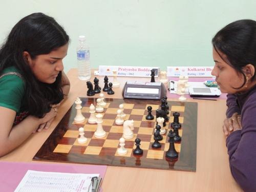 Pratyusha on way to her upset win over WIM Bhakti Kulkarni