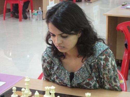 Tournament leader Tania Sachdev