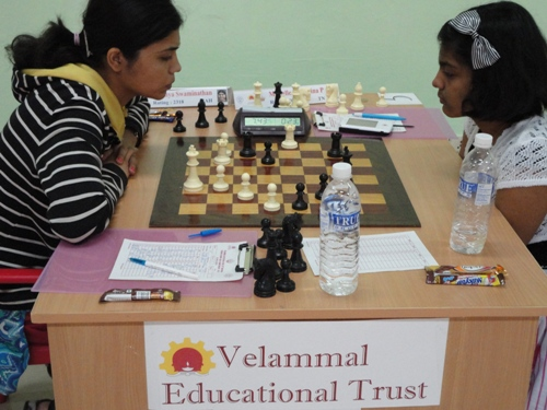 WGM Sowmya Swaminathan facing birthday girl Michelle Catherina