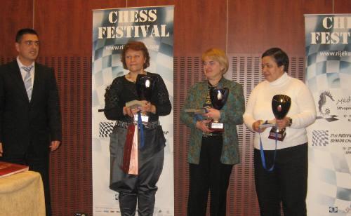 senior podium women