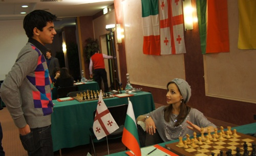 Anish Giri and Sopiko