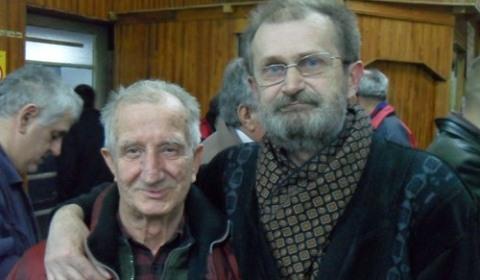 Miroslav Milenkovic Bone and the tournament winner IM Zoran Novoselski