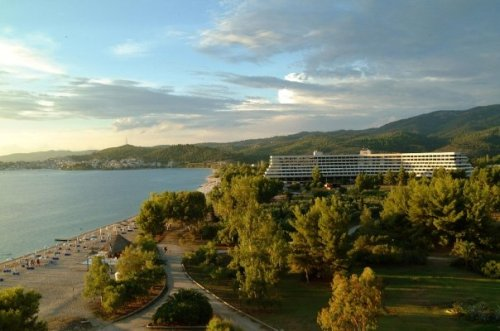 Porto Carras beach and Hotel Sithonia