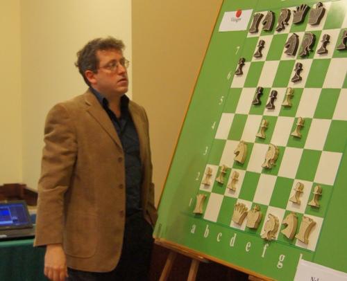 IM Guilio Borgo analysing the games