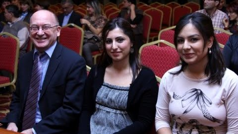 Kubra and Betul with GM Mikhalchishin
