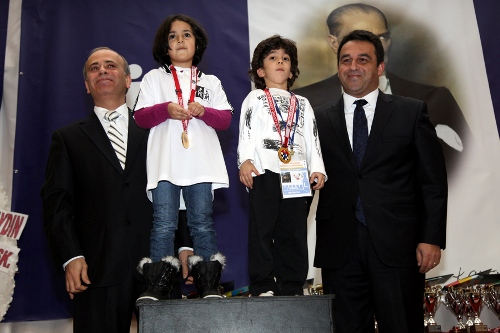 President of TCF Ali Nihat Yazici and PR Director of Turkish Is Bank