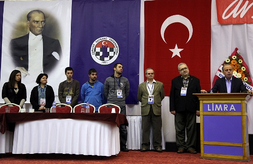 President of TCF Ali Nihat Yazici with current and former Turkish Champions