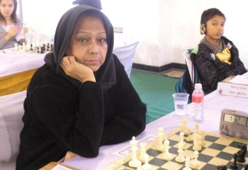 Veteran Women International Master Rani Hamid from Bangladesh