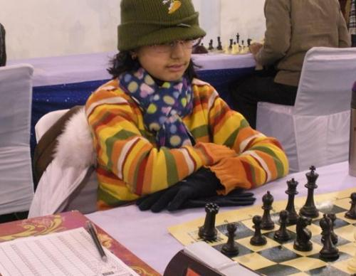 Young player in action