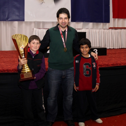 Dragan Solak with junior players