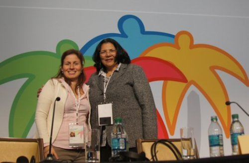 Martha Fierro and Anita DeFrantz