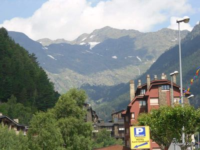View of Pyrenees mountains in Andorra