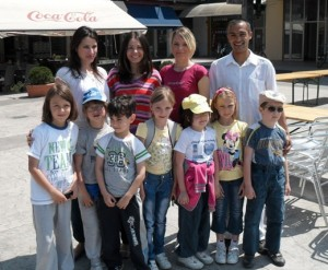 Kids from Zajecar and their chess teacher Vladica Simic