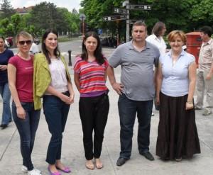 Sandra Djukic, Andjelija Stojanovic, Ljilja Drljevic, Sasa Milojevic and Ksenija Milosevic