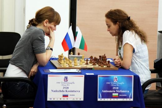 Kazan FIDE Women Grand Prix, Antoaneta Stefanova - Nadezhda Kosintseva