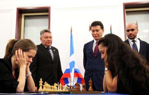 Kazan FIDE Women Grand Prix, Tatiana Kosintseva - Alexandra Kosteniuk
